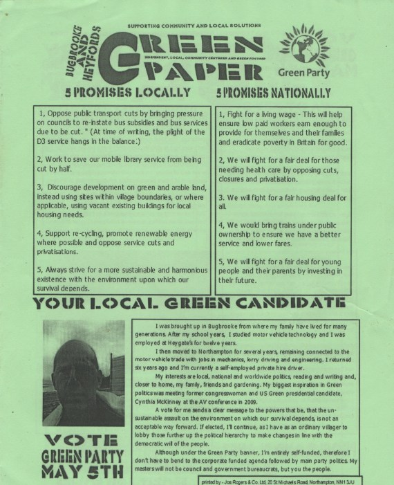 Election leaflet.